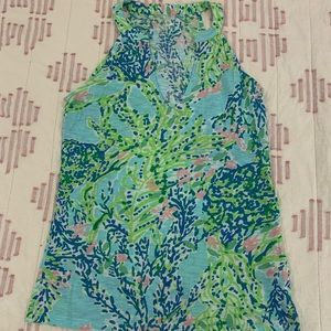 Lilly Pulitzer xs cotton racer back